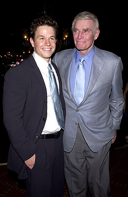 Premiere: Mark Wahlberg and Charlton Heston at the New York premiere of 20th Century Fox's Planet Of The Apes - 7/23/2001