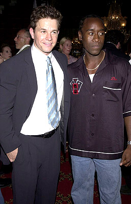 Premiere: Mark Wahlberg and Don Cheadle at the New York premiere of 20th Century Fox's Planet Of The Apes - 7/23/2001