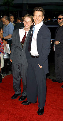 Premiere: Luke Eberl and Mark Wahlberg at the New York premiere of 20th Century Fox's Planet Of The Apes - 7/23/2001