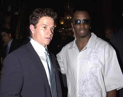 Premiere: Mark Wahlberg and P. Diddy at the New York premiere of 20th Century Fox's Planet Of The Apes - 7/23/2001