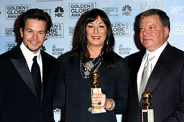 Mark Wahlberg, Anjelica Huston and William Shatner Golden Globe Awards - 1/16/2005