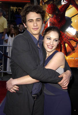 Premiere: James Franco and Marla Sokoloff at the LA premiere of Columbia Pictures' Spider-Man - 4/29/2002