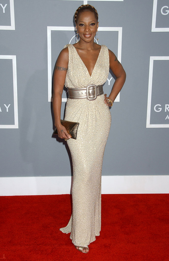 Mary J. Blige at The 49th Annual Grammy Awards.