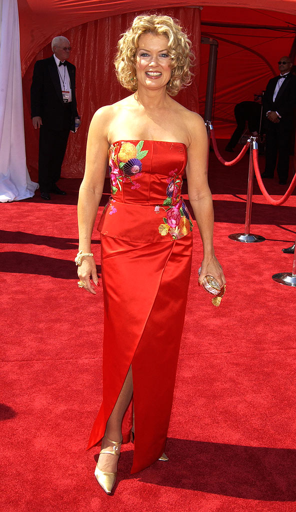 Mary Hart at The 55th Annual Primetime Emmy Awards.