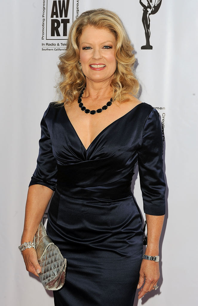 Mary Hart arrives at the American Women in Radio & Television Southern California 2010 Genii Awards at Skirball Cultural Center on April 14, 2010 in Los Angeles,