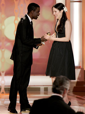 Presenter Chris Rock and winner Mary-Louise Parker 63rd Annual Golden Globe Awards Beverly Hills, CA - 1/16/05