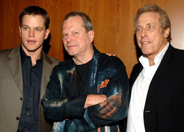 Premiere: Matt Damon, director Terry Gilliam and producer Charles Roven at the Los Angeles premiere after party for Dimension Films' The Brothers Grimm - 8/8/2005