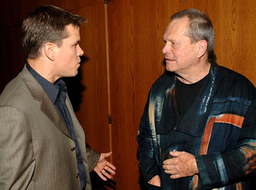 Premiere: Matt Damon and director Terry Gilliam at the Los Angeles premiere after party for Dimension Films' The Brothers Grimm - 8/8/2005