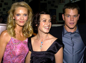 Premiere: Joan Allen, Franka Potente and Matt Damon at the Hollywood premiere of Universal Pictures' The Bourne Supremacy - 7/16/2004
