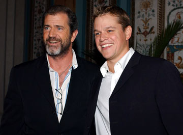 Mel Gibson and Matt Damon ShoWest 2005 Awards Night - Las Vegas, NV - 3/17/05
