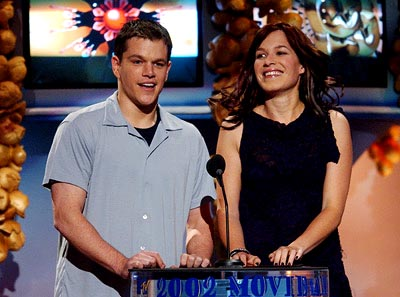 Matt Damon and Franka Potente MTV Movie Awards 6/1/2002