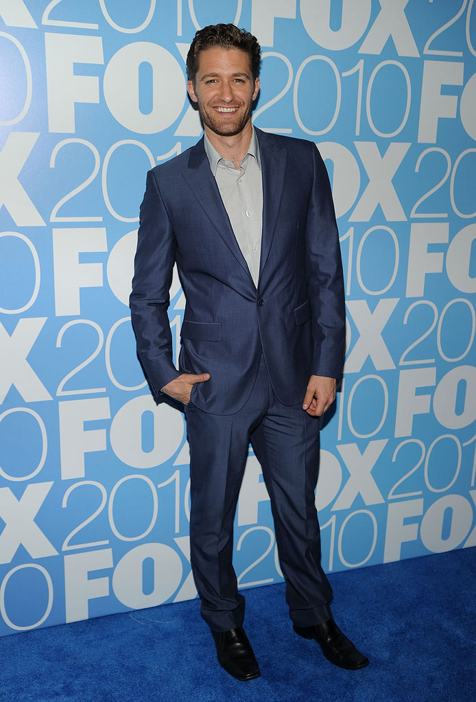 "Matthew Morrison (""Glee"") attends the 2010 Fox Upfront after party at Wollman Rink, Central Park on May 17, 2010 in New York City."