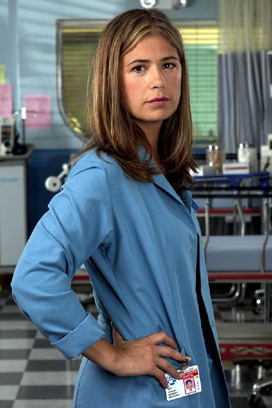 Maura Tierney  as Dr. Abby Lockhart  in ER on NBC.