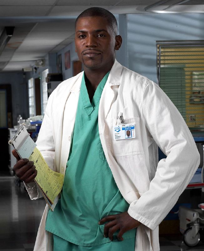 Mehki Phifer as Dr. Greg Pratt in ER on NBC.