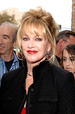 Premiere: Melanie Griffith at the LA premiere of Columbia Pictures' The Legend of Zorro - 10/16/2005