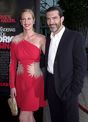 Premiere: Melanie Griffith and Antonio Banderas at the L.A. premiere of MGM's Original Sin - 7/31/2001