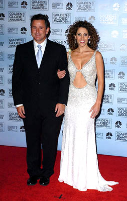 Anthony LaPaglia and Melina Kanakaredes Golden Globe Awards - 1/16/2005