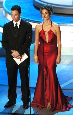 Gary Sinise and Melina Kanakaredes Presenters for Outstanding Lead Actor in a Drama Series Emmy Awards - 9/19/2004
