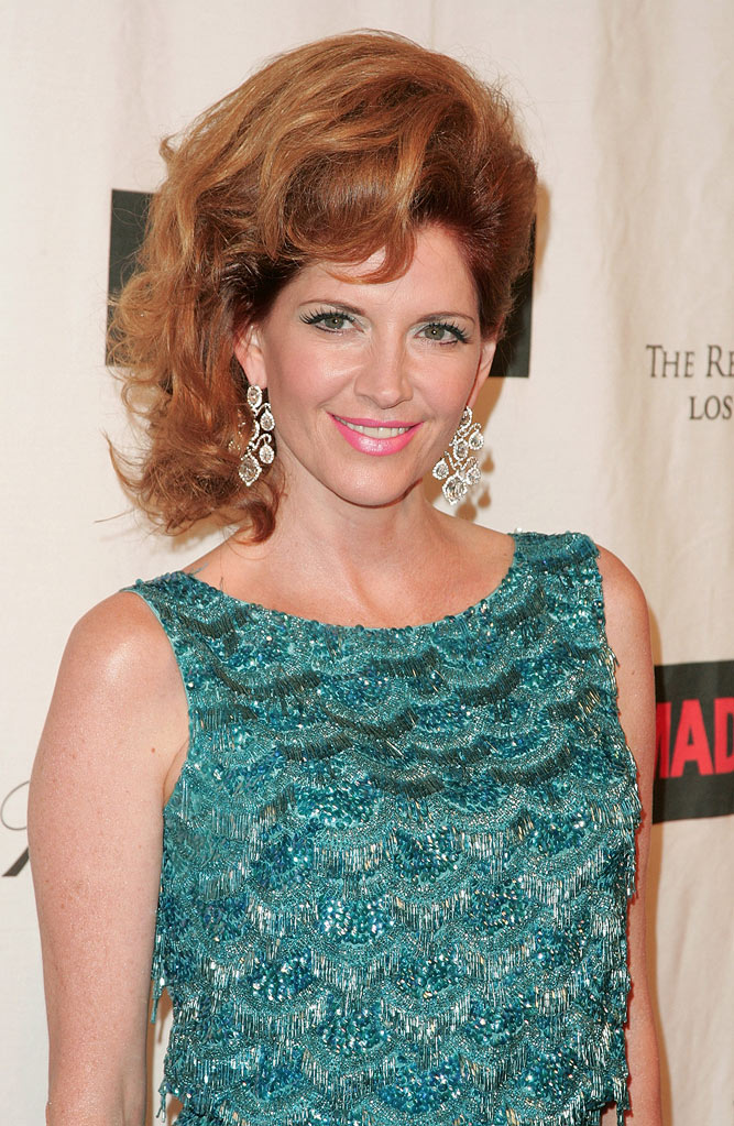 "Melinda Mcgraw attends ""A Night on the Town with Mad Men"" at the El Rey Theater on October 21, 2008 in Los Angeles, California."