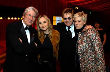 Richard Gere, Melissa Etheridge, Elton John, Tammy Lynn Michaels Elton John AIDS Foundation's Annual Viewing Party 75th Academy Awards - 3/23/2003