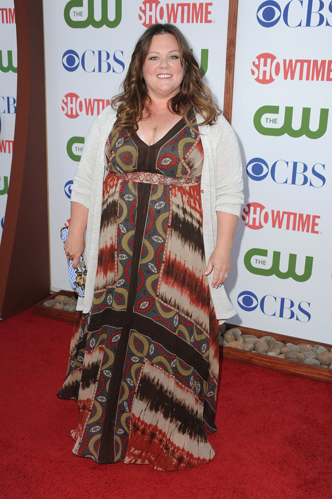 "Melissa McCarthy of ""Mike and Molly"" attends the CBS, The CW, and Showtime 2011 Summer TCA Party at The Pagoda on August 3, 2011 in Beverly Hills, California."