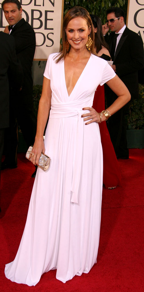 Melora Hardin at the 64th annual Golden Globe Awards.