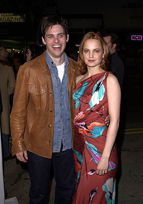 Premiere: James Marsden and Mena Suvari at the Westwood premiere of New Line's Sugar and Spice - 1/24/2001