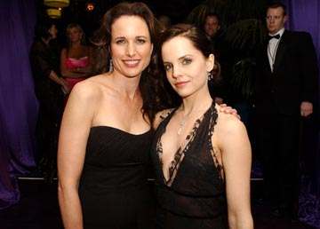 Andie MacDowell and Mena Suvari InStyle/Warner Bros. Golden Globes Party The Palm Court at the Beverly Hilton - Beverly Hills, CA - 1/16/05