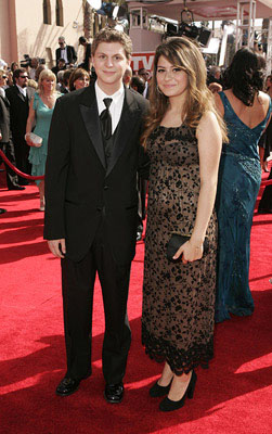 Michael Cera and Alia Shawkat Emmy Awards Arrivals - 9/18/2005