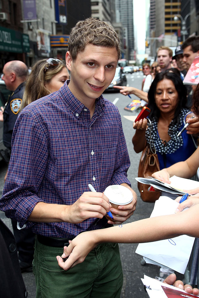 "Michael Cera visits ""Late Show With David Letterman"" at the Ed Sullivan Theater on August 3, 2010 in New York City."