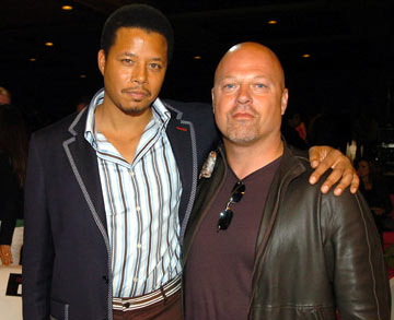 Michael Chiklis and Terrence Dashon Howard MTV Movie Awards 2005 - Backstage Los Angeles, CA - 6/4/05