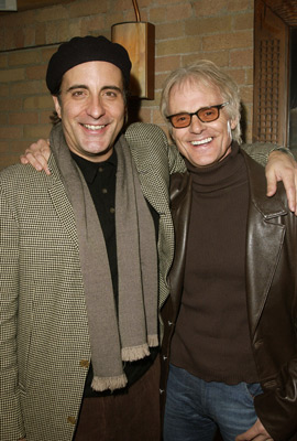 Andy Garcia and Michael Des Barres The Man From Elysian Fields party Sundance Film Festival 1/14/2002