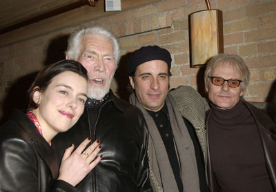 Olivia Williams, James Coburn, Andy Garcia and Michael Des Barres The Man From Elysian Fields party Sundance Film Festival 1/14/2002