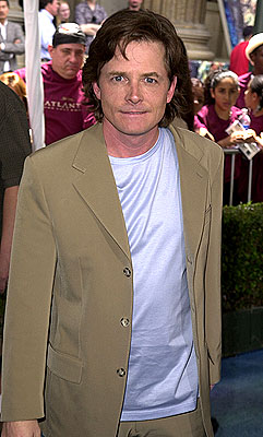 Premiere: Michael J. Fox at the Los Angeles premiere of Disney's Atlantis: The Lost Empire - 6/6/2001
