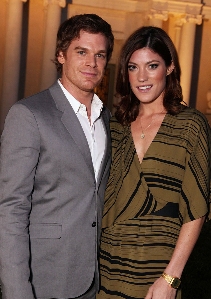 "Michael C. Hall and Jennifer Carpenter (""Dexter"") at the CBS, The CW, and Showtime 2009 TCA Summer Tour All-Star Party held at the Huntington Library on August 3, 2009 in Pasadena, California."
