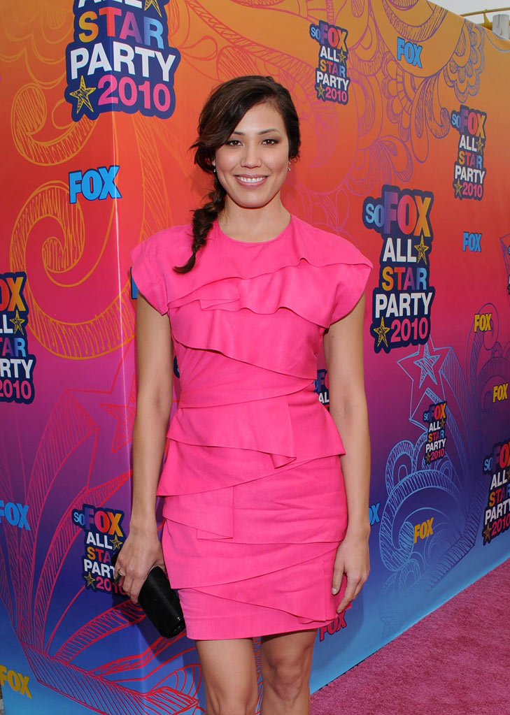 """Bones'"" Michaela Conlin arrives at the Fox 2010 Summer TCA All-Star Party on August 2, 2010 in Santa Monica, California."