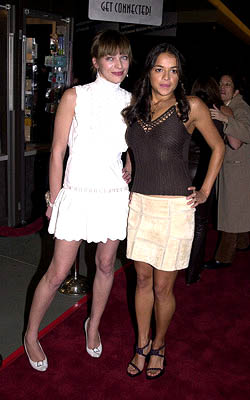 Premiere: Milla Jovovich and Michelle Rodriguez at the LA premiere of Screen Gems' Resident Evil - 3/12/2002