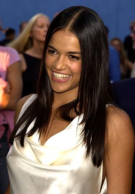 Premiere: Michelle Rodriguez at the LA premiere of Universal's Blue Crush - 8/8/2002