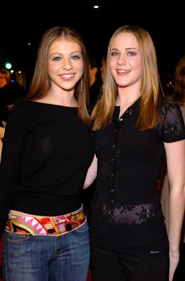 Premiere: Michelle Trachtenberg and Evan Rachel Wood at the LA premiere of New Line's The Lord of the Rings: The Return of The King - 12/3/2003