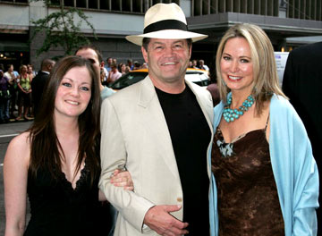 Premiere: Mickey Dolenz with daughter Georgia and wife Donna at the New York premiere of Dreamworks' The Island - 7/11/2005