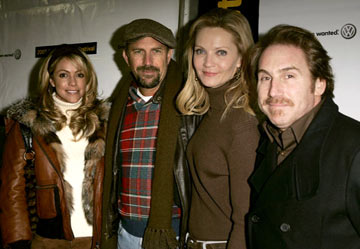 Christine Baumgartner, Kevin Costner, Joan Allen and director Mike Binder The Upside of Anger Premiere - 1/22/2005 Sundance Film Festival