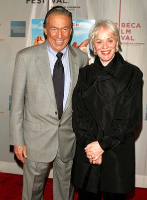 Mike Wallace and wife, Mary Tribeca Film Festival, May 1, 2004