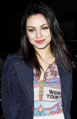 Premiere: Mila Kunis at the Hollywood premiere for Screen Gems' Slackers - 1/29/2002