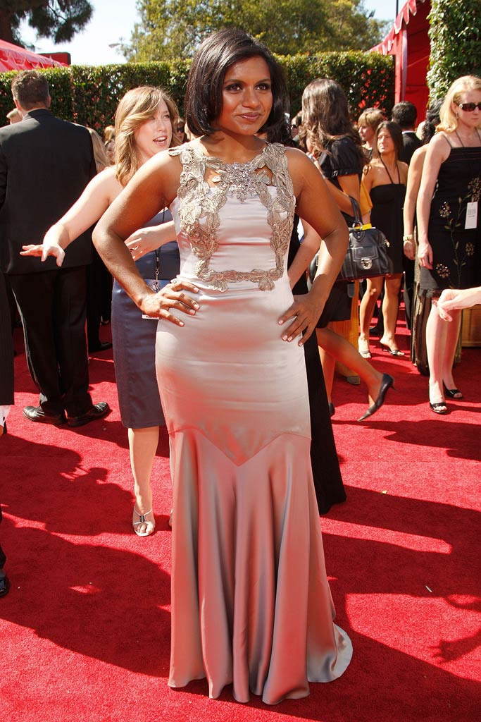 Mindy Kaling arrives at the 59th Annual Primetime Emmy Awards at the Shrine Auditorium on September 16, 2007 in Los Angeles, California.