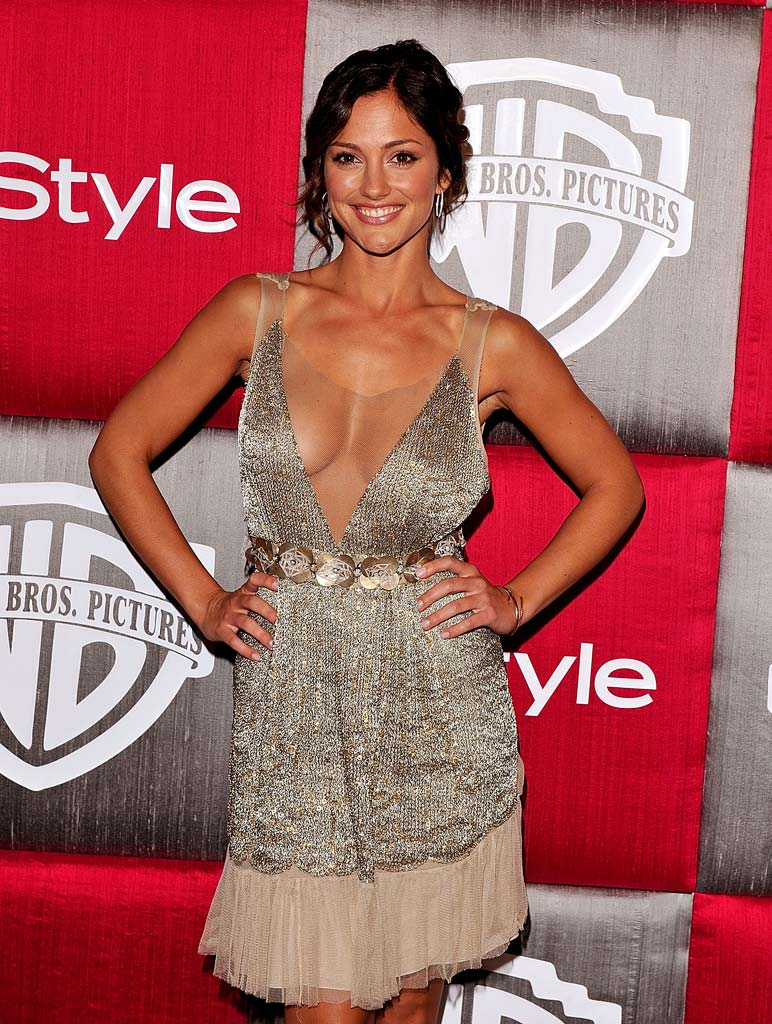 Minka Kelly arrives at the InStyle/Warner Bros. after party for the 66th Annual Golden Globe Awards held at the Beverly Hilton Hotel on January 11, 2009 in Beverly Hills, California.