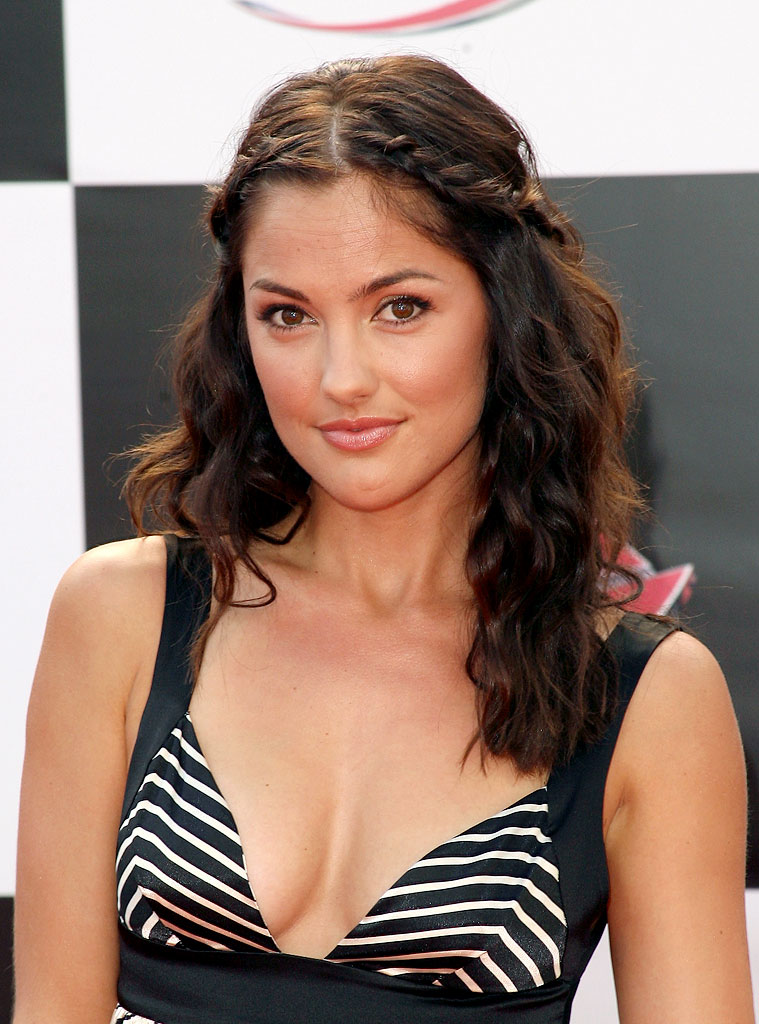 "Minka Kelly arrives at the ""Speed Racer"" world premiere at the Nokia Theatre on April 26, 2008 in Los Angeles, California."