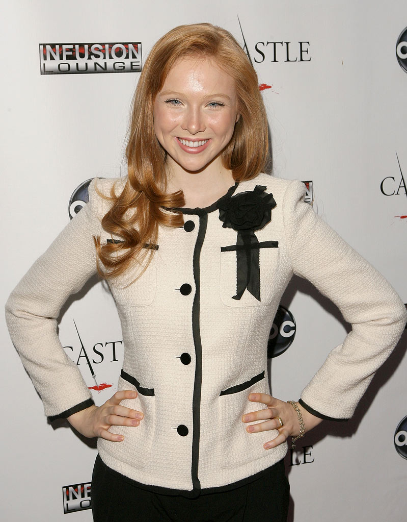 "Molly C. Quinn arrives at the ""Castle"" Season 3 premiere party on September 13, 2010, in Los Angeles."