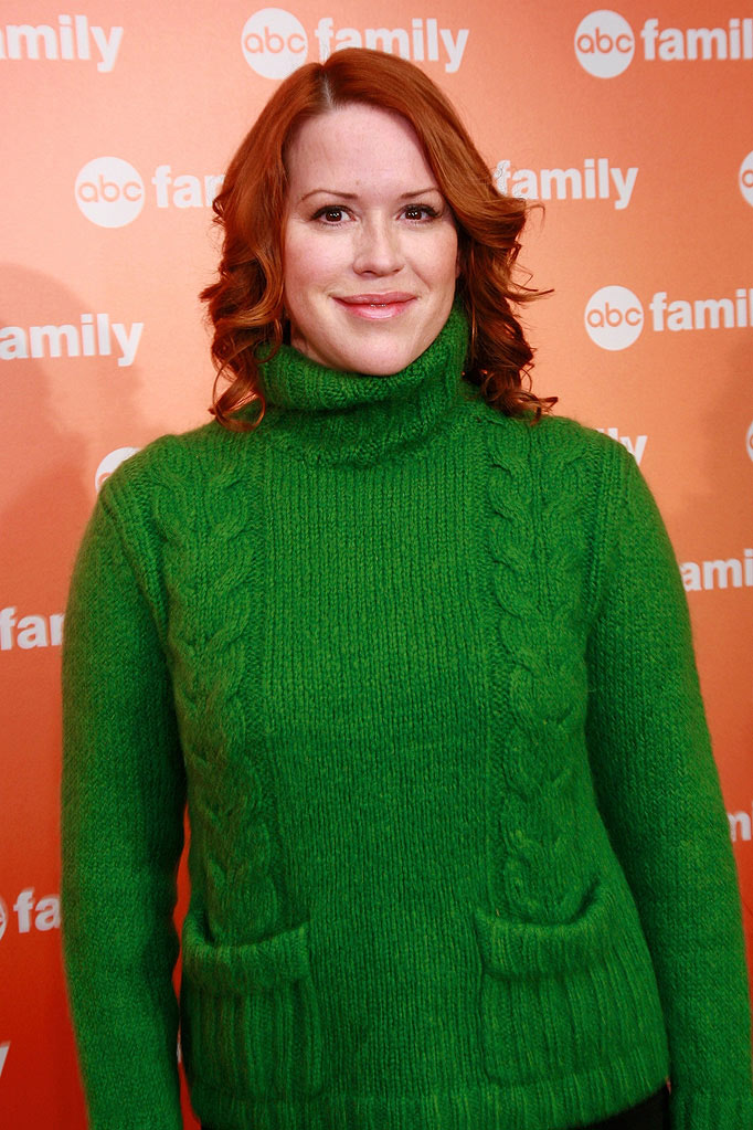 Molly Ringwald attends the ABC Family's 25 Days of Christmas Winter Wonderland event at the Rock Center Cafe on December 7, 2008