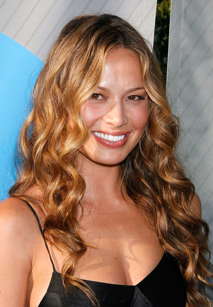 "Moon Bloodgood of Journeyman arrives at the ""NBC TCA Party""."