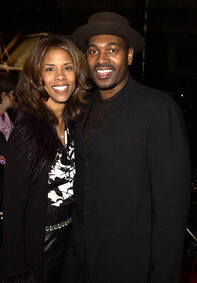 Premiere: Mykelti Williamson and wife at the Hollywood premiere of Ali - 12/12/2001